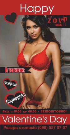 """Баннер для нічного клубу """"ZOV"""""""