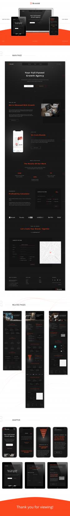Адаптивный дизайн сайта для LILO SOCIAL