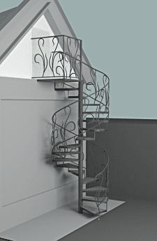 Дизайн лестницы чердачной