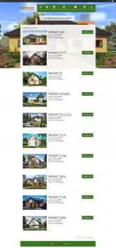 Сайт-каталог деревянных домов