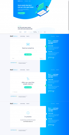 Верстка макета для сервиса проверки почты на спам