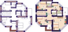 2 плана с мебелью