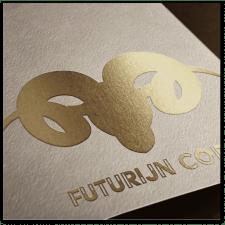 Логотип золотое тиснение