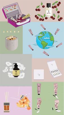 Иллюстрации для инста страницы парфюмерии