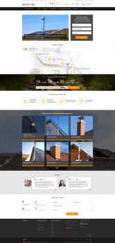 Посадочная страница для сайта saunavam.ru Битрикс
