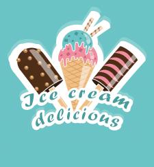 логотип Ice cream delicious