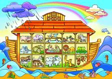 Поле для игры. Ковчег Ноя в разрезе с парами живот