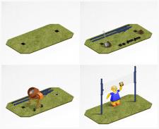 Схема установки волейбольной площадки