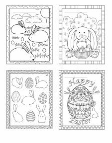 """Детские раскраски """"Easter bunny"""" 2"""