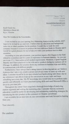 Написание CV (curriculumn vitae) и cover letter