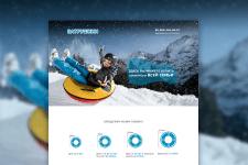 Дизайн сайта по продажам тюбинга