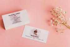 Личные визитки для кондитера