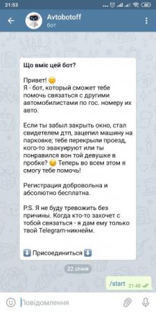 Бот Телеграм Avtobotoff