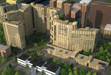 Экстерьер многоэтажного дома UZTS