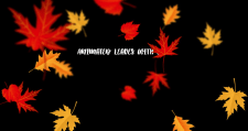 Animated leaves with CSS3
