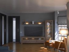 Гостиная в загородном доме с подбором мебели