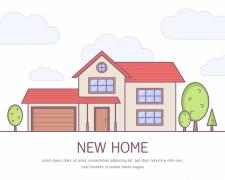 Иллюстрация: баннер для рекламы недвижимости