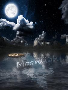Moonlight. Работа в фотошоп.