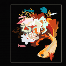 Аквариумная рыбка (вектор)