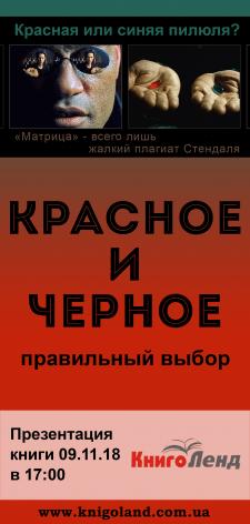 Флаер для презентации книги