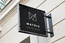 Вывеска офиса - логотип Арт студия MATRIX