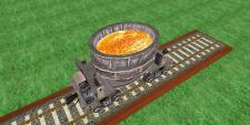 3D модель вагона-шлаковоза