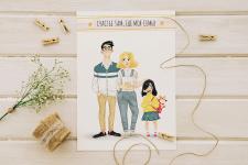 Семейный портрет-открытка