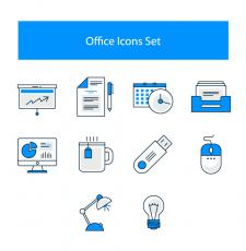 Іконки на офісну тематику.