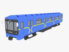 3D модель вагона метро