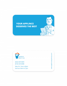 ApplianceRepairCorp - business card