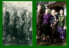 Реставрация и раскраска ч/б фотографии