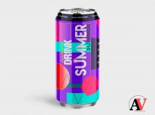 Дизайн упаковки летнего напитка