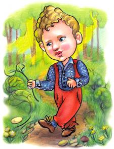 мальчик по тропинке