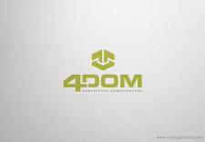 Логотип деревянного домостроения 4DOM