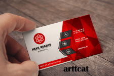 красная визитка