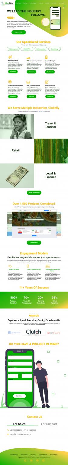 Ре-дизайн сайта для дизайн студии