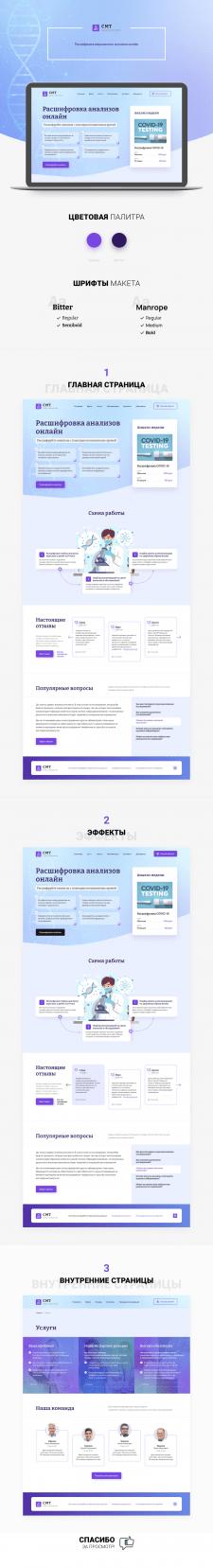 Дизайн сайта CMT-analytics