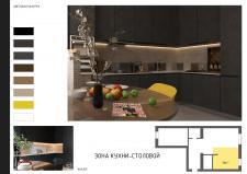 Визуализация кухни ( вид2 )