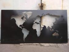 Плазменная резка металла, картина из металла