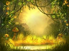 Сказочный лесной пейзаж