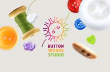 Логотип мастерской хенд-мейд вещей из пуговиц