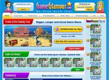 GameGlamour.com - дизайн страниц, стартовая