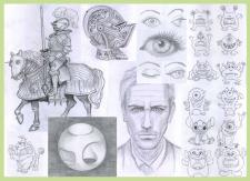 Рисунки от руки (карандаш)