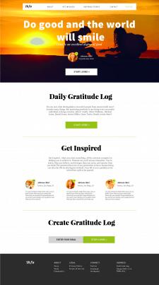Дизайн сайта благодарности