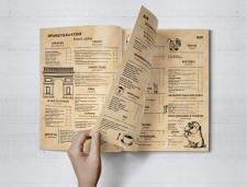 Дизайн меню для ресторана европейской кухни