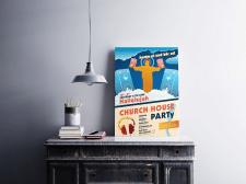 Постер для хаус-вечеринки, в Австрии