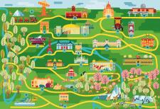 Карта для детского туризма в Париже