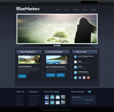 Шаблон BlueMasters для портфолио