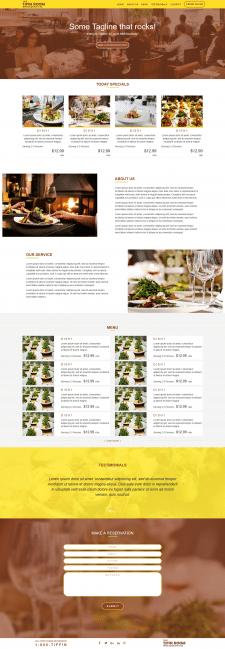 Landing page Restaurant service