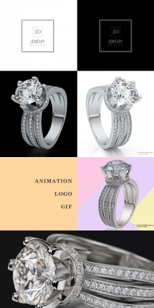 Jewelry ring 3d design for «JD» + 360 animation